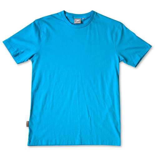 Silverstick Mens T-Shirt in Azure Blue.