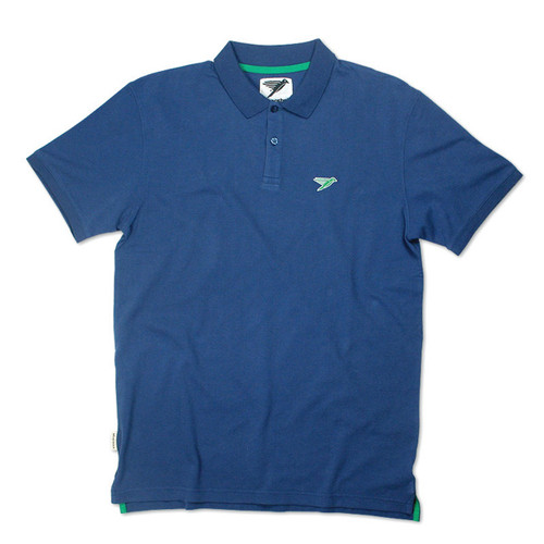 Silverstick Mens Polo Shirt Columbus Design in Deep Sea Blue.