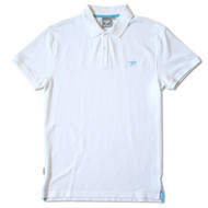 Silverstick Mens Polo Shirt Columbus Design in Snow White.