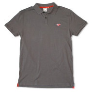 Silverstick Mens Polo Shirt Columbus Design in Slate Grey.