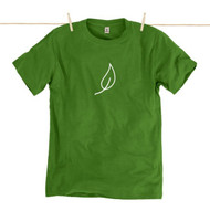 Rapanui Mens T-Shirt Leaf Classic Design in Leaf Green.