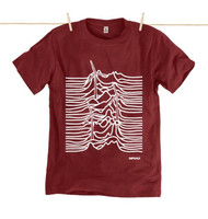 Rapanui Mens T-Shirt Untapped Treasure in Red Wine.