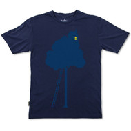 Silverstick Men's T Shirt Tree House Design in Navy Blue.