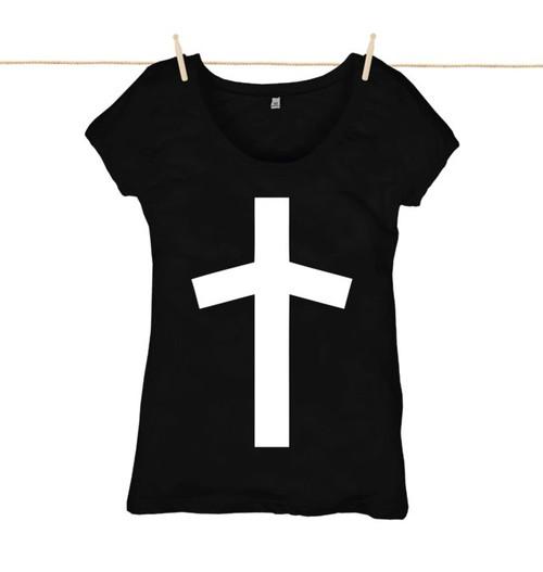 Kahuna Women's Top Cross Design in White.