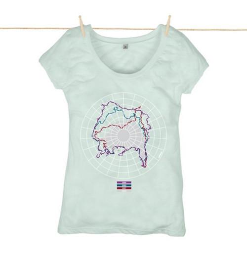 Kahuna Women's Top The Arctic Design in Baby Blue.