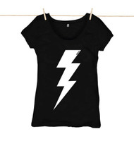 Kahuna Womens Top Lightning Bolt Design in Black.