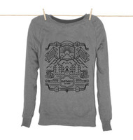 Kahuna Womens Sweat Shirt Nordic Design in Light Heather.