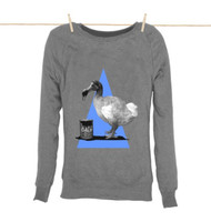 Kahuna Womens Sweat Shirt Dodo Design in Light Heather.