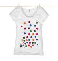 Kahuna Womens Top Polka Dot Design in White.