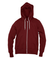 Kahuna Womens Hoodie Zip in Red Wine.