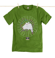 Kahuna Mens T-Shirt The Arctic Design in Kahuna Green.