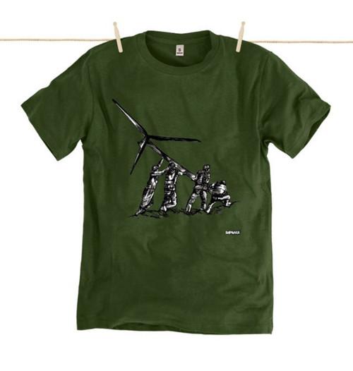 Kahuna  Mens T-Shirt Heroes ll Design in Moss Green.