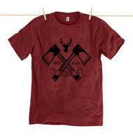 Kahuna Mens T-Shirt Lumberjack Burgundy.