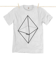 Kahuna Mens T-Shirt Pyramid Design in White.