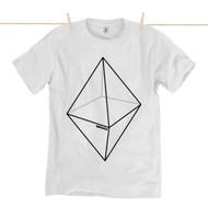 Kahuna Mens T-Shirt Pyramid Design in White.