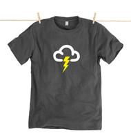Kahuna Mens T-Shirt Thunder Design in Dark Grey.