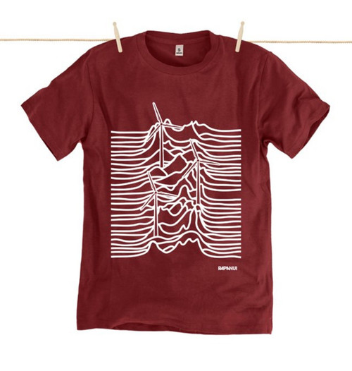 Kahuna Mens T-Shirt Untapped Treasure in Red Wine.