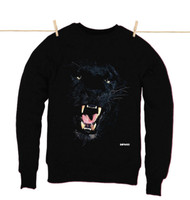 Kahuna Mens Jumper Panther Design in Black.