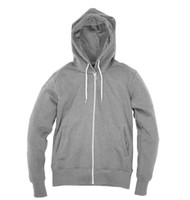 Kahuna Mens Hoodie Organic Zip in Light Heather.