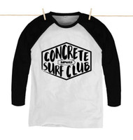 Kahuna Mens T-Shirt Concrete Surf Club Design in Black and White.