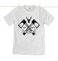 Kahuna Mens T-Shirt Lumberjack ll Design in White.