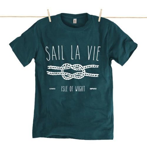 Kahuna Sail La Vie Mens T-Shirt. Denim Blue.