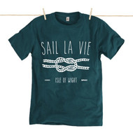Kahuna Sail La Vie Mens T-Shirt. Denim Blue.