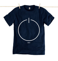 Kahuna Mens T-Shirt Stand By Design in Navy Blue.