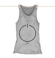 Kahuna Womens Vest Top Stand By Design in Athletic Grey.