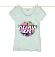 Kahuna Womens Top Vitamin Sea Design in Baby Blue.