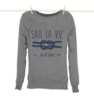 Kahuna Womens Sweat Shirt Sail La Vie Design in Light Heather.