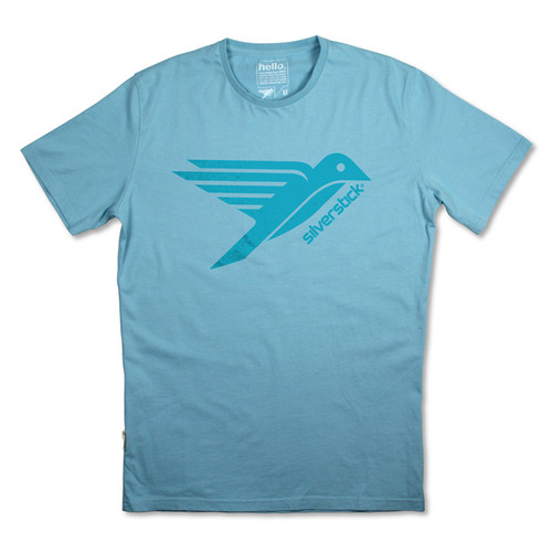 Silverstick Men's T-Shirt Bird-Original Logo Design in Stratosphere.