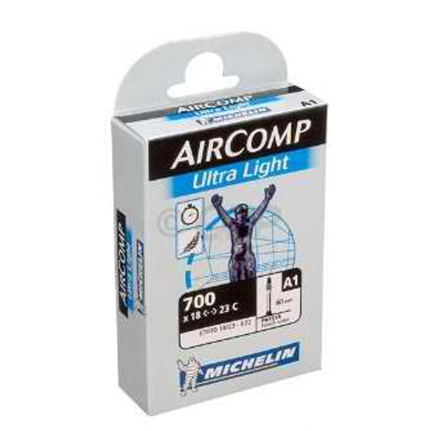 Airstop Ultra Light Butyl Road Tube by Michelin, 700c x 40mm, 52mm & 60mm