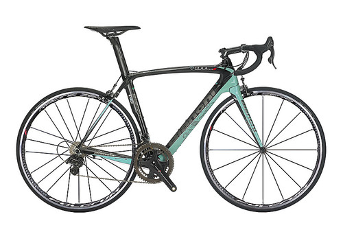 Bianchi HoC Oltre XR.2 Shimano STI equipped Carbon Bicycle, Black & Celeste Green - Build It Your Way