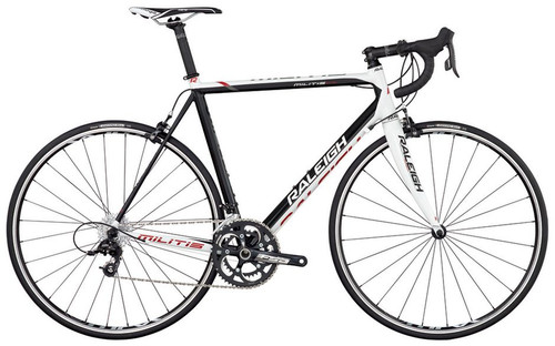 Raleigh Militis Shimano STI equipped Carbon Bicycle, Black & White - Build It Your Way