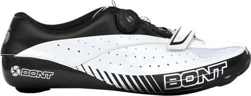 Bont Blitz Cycling Road Shoes, White & Black