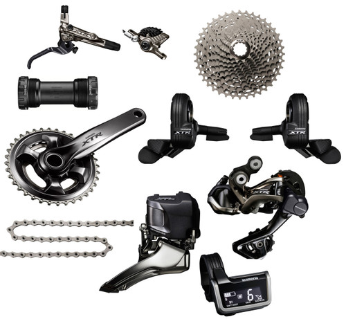 Shimano XTR 9050 Di2 Groupset with M9020 Chainrings | Trail