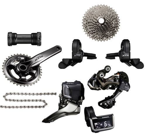 Shimano XTR 9050 Di2 Groupset with M9000 Chainrings | Race (less brake levers & calipers)