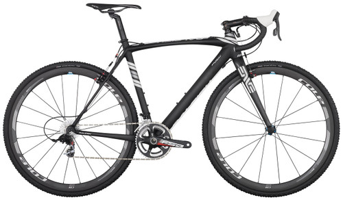 Raleigh RXC Pro Disc Shimano Di2 equipped Carbon Bicycle, White & Silver Accents - Build It Your Way