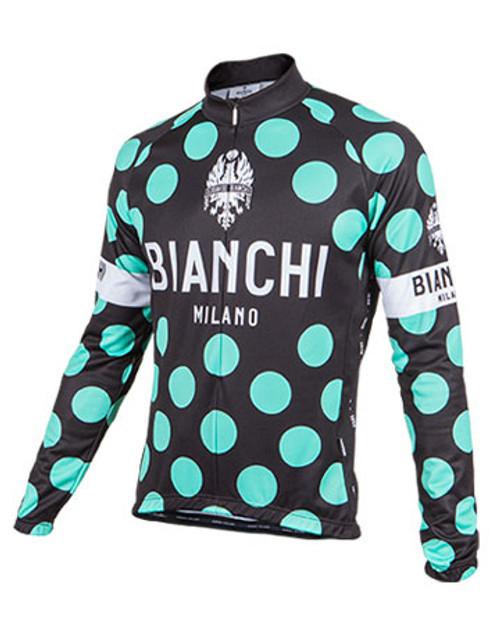 Bianchi Pride Long Sleeve Jersey, Black Polka Dot