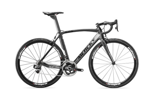 Eddy Merckx 525 Endurance Campagnolo EPS equipped Carbon Bicycle, Black Anthracite & Silver Satin - Build It Your Way