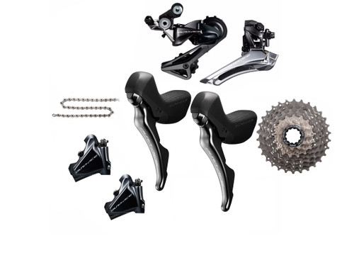 Shimano Dura-Ace  R9120 Hydraulic Flat Mount STI 6 piece Upgrade Kit | Daily Deal