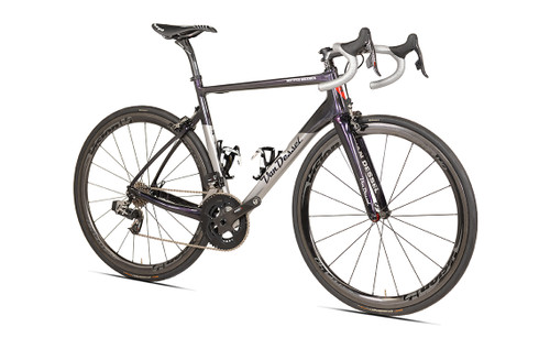 Van Dessel Full Tilt Boogie Disc Shimano Di2 equipped Carbon Bicycle, Silver / Black / Purple - Build It Your Way
