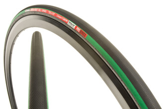 Vittoria Open Pave CG III Clincher Tire, Black / Green, 25c | Buy 1 Get 1 Free