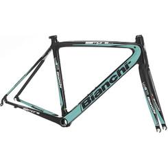 Bianchi B4P Sempre Pro Frameset, Black / Celeste Green