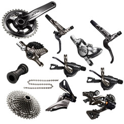 Shimano XTR 9000 Groupset with M9020 Chainrings | Trail