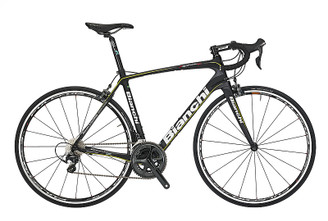 Bianchi C2C Infinito CV Shimano Di2 equipped Carbon Bicycle, Black & Yellow - Build It Your Way