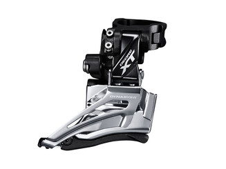 Shimano M8025-H Front Derailleur, Conventional 2x11 Down Swing, High Clamp