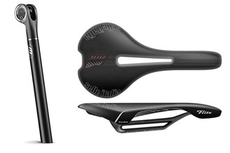 Selle Italia Flite Carbon Flow Monolink Saddle & Seatpost Combo