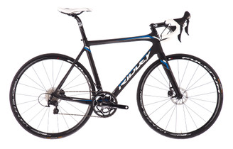 Ridley Fenix Disc Shimano STI equipped Carbon Bicycle, Black & Blue - Build It Your Way